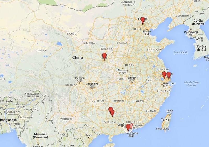 Roteiro CHINA MAPA