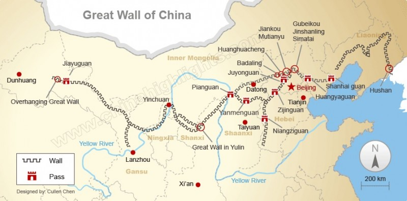 Great Wall map completo