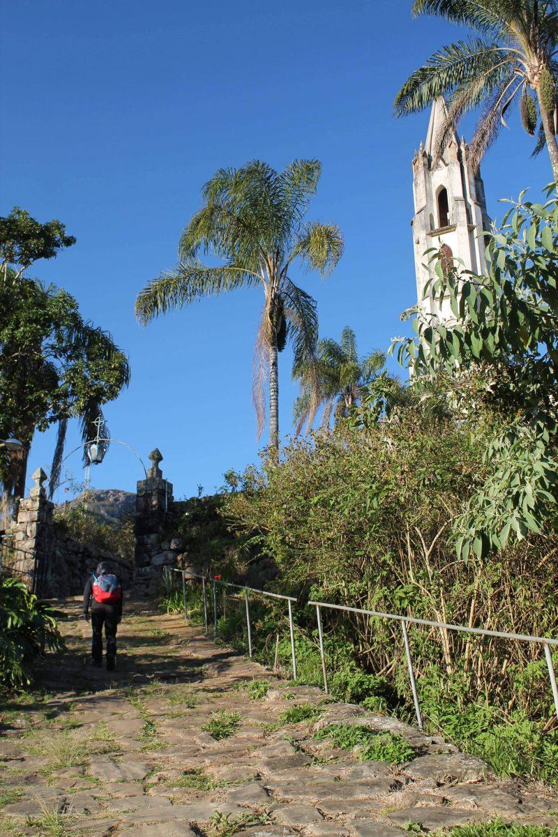Chegada no Santuário do Caraça, em Minas Gerais