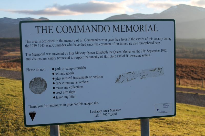 The Commando Memorial, Escócia