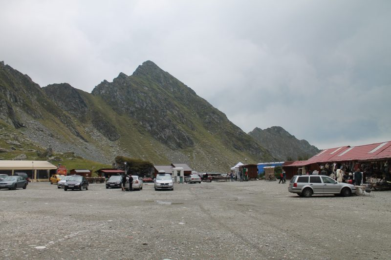 Estacionamento do Balea Lac, na Transfagarasan