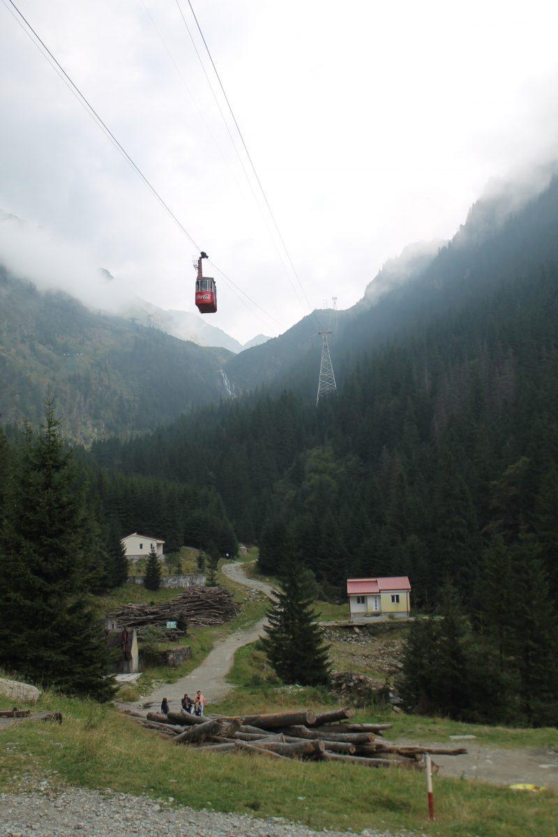 Teleférico na Transfagarasan, na Romênia