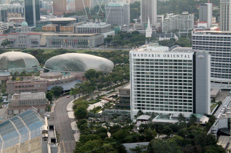 Vista da Singapore Flyer para o Mandarin Oriental, Singapore