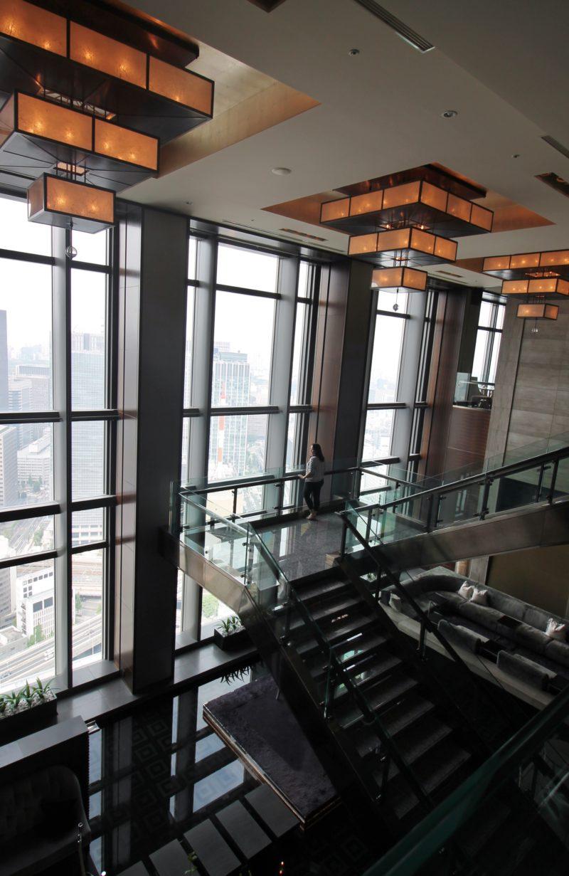 Lobby do Mandarin Oriental, Tokyo, no 38º andar do edifício